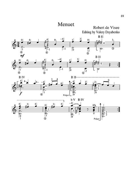 Sheet music. Composer R.de. Wiesee. Minuet.-Page 23.Noten. Komponist R.de. Wiesee. Menuett.-Seite 23.Partitura. Compositor R.de. Wiesee. Minueto.-Página 23.Partitura. Spartito. Compositore R.de. Wiesee. Menuet.- Pagina 23.Bileog cheoil. Cumadóir R.de. Wiesee. Roghchlár. - Leathanach 23.Nodeblad. Komponist R.de. Wiesee. Minuet.-Side 23.Partition. Compositeur R.de. Wiesee. Menuet.-Page 23.Noter. Kompositör R.de. Wiesee. Minuet.-Sida 23.Noty. Skladatel R.de. Wiesee. Minuet.-Strana 23.シートミュージック。 作曲家R.de. Wiesee。 メヌエット-23ページNuty Kompozytor R.de. Wiesee. Menuet. - Strona 23.Партитура. Композитор Р. Виесее. - Страница 23.Kotta. Zeneszerző R.de Wiesee. Minuet.-oldal 23.Нота. Композиторът R.de Wiesee. Минута.-страница 23.Nótnablöð. Tónskáld R.de Wiesee. Minuet.-Bls. 23.Φύλλα μουσικής. Συνθέτης R.de. Wiesee Μενού - Σελίδα 23.Bladmuziek. Componist R.de. Wiesee. Menuet. - Pagina 23.Noter. Kompositör R.de. Wiesee. Minuet.-Sida 23.Noteark. Komponist R.de. Wiesee. Minuet.-Side 23.