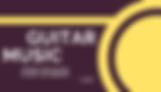 """Логотип для сайта с надписью """" Guitar music """".Музыка для концертов."""