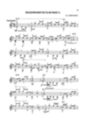 Ноты полифонической пьесы для гитары Валерия Дзябенко. стр. № 55