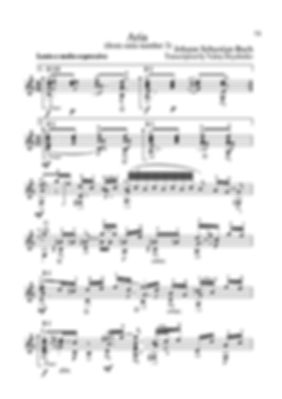 Arrangement score for guitar aria from suite No. 3 by I.S.Bach. page 73