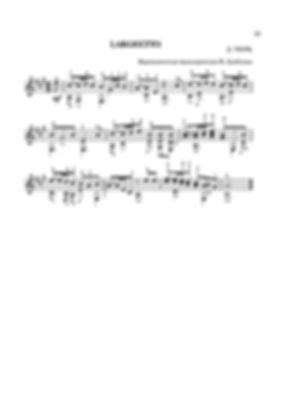 Ноты ларгхетто ля минор Д. Г. Тюрка - переложение для гитары. стр. № 25