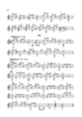 Sheetmusic. Composer D.G. Turk. Polyphonic theme and variations. Arrangement for guitar. page 16.continued.