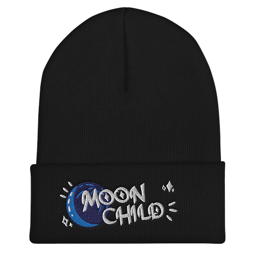 Moon Child Embroidered Beanie