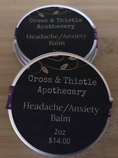 2oz Headache/ Anxiety Balm