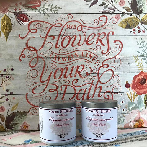4oz Organic Unscented Body Butter