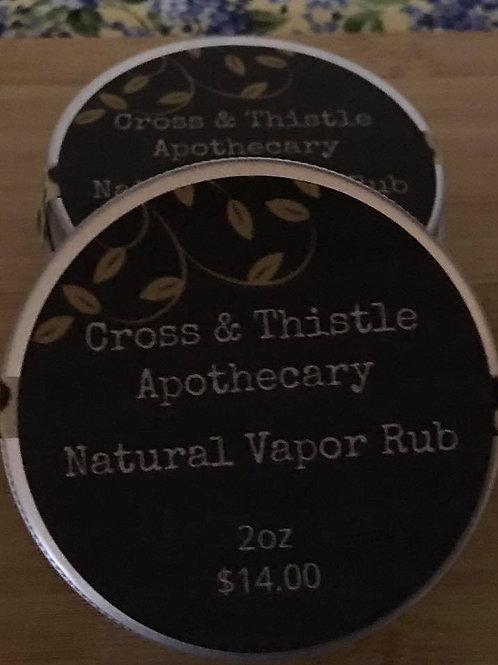Natural Vapor Rub 2oz