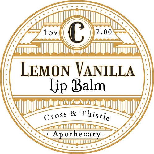 1oz Lemon Vanilla lip balm