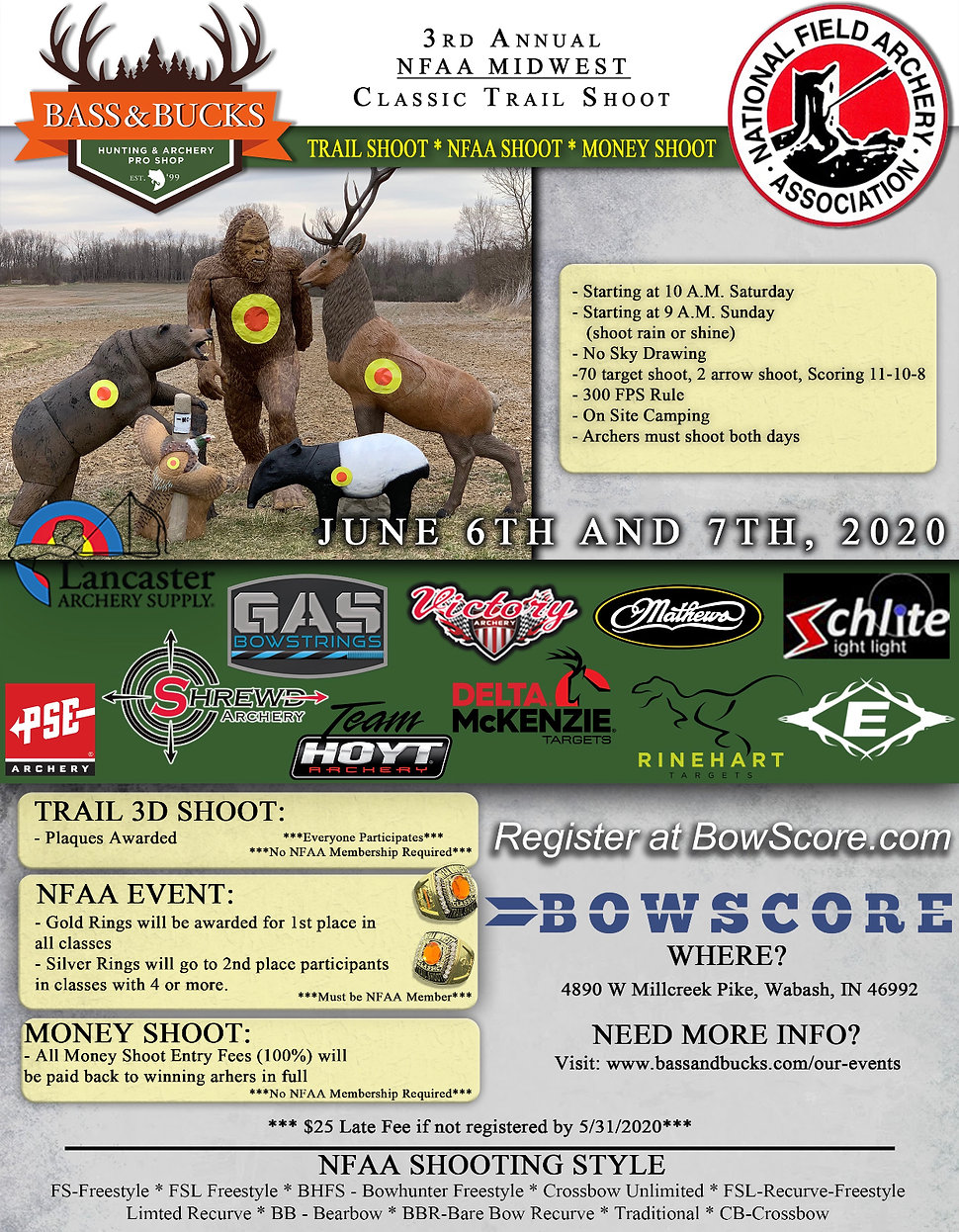 NFAA Midwest CLassic Trail Shoot FLyer 5