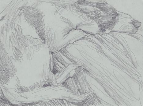 Bleistift auf Papier / pencil on paper / 18 x 22 cm