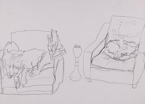 Bleistift auf Papier / pencil on paper / 21 x 29 cm