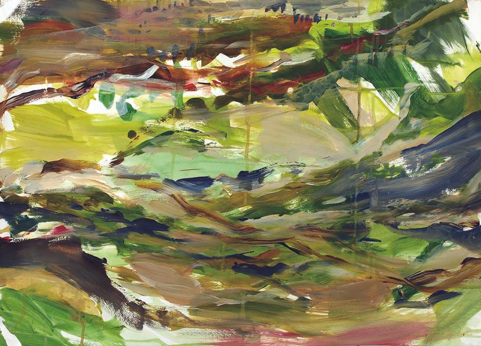 Acrylfarbe auf Papier / acrylic on paper / 80 x 60 cm
