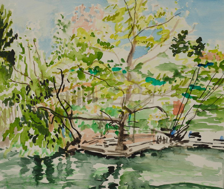 Aquarellfarben auf Papier / watercolor on paper / 40 x 50 cm