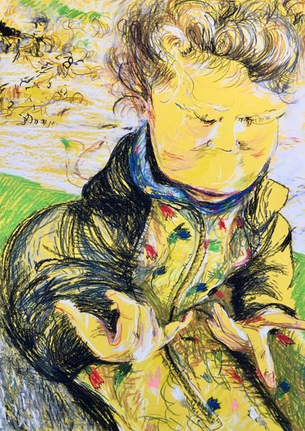 70 x 50 cm, Pastelkreide auf Papier, pastel chalk on paper