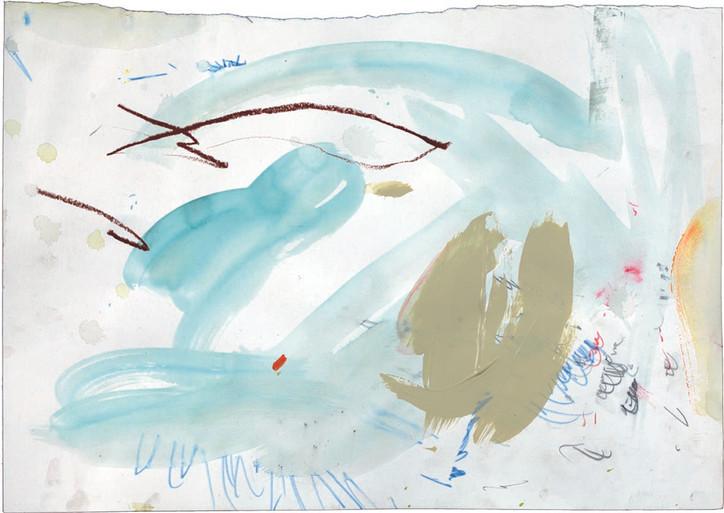 Buntstift und Acryl auf Papier / crayon and acrylic on paper / 30 x 40 cm