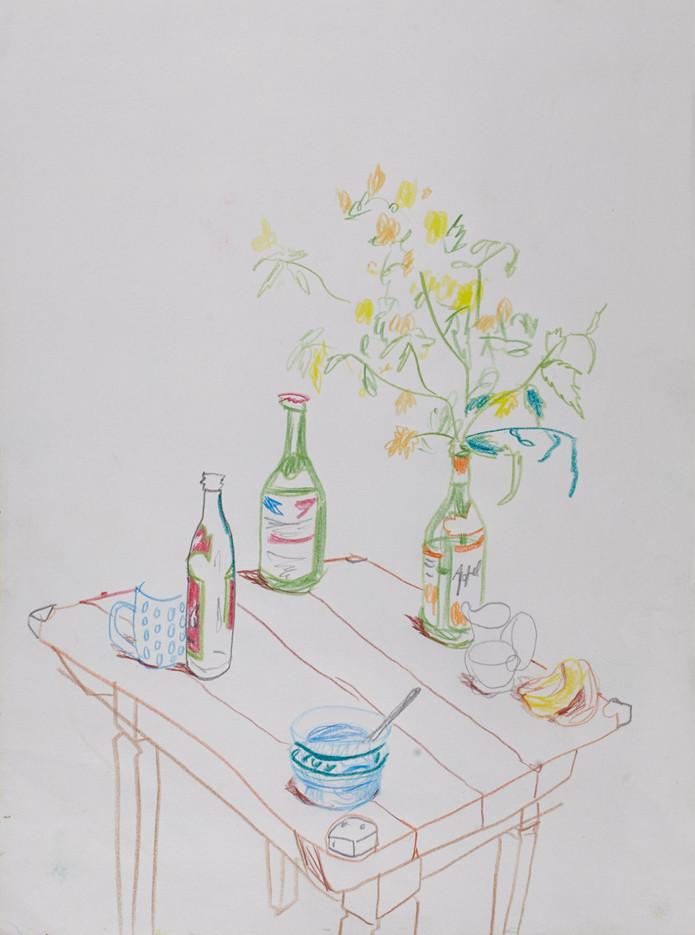 Buntstifte auf Papier / crayon on paper / 50 x 40 cm