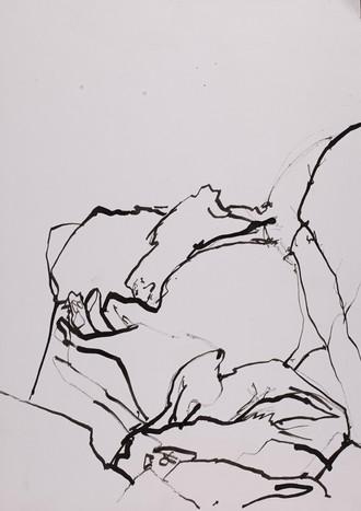 Tusche auf Papier / ink on paper / 29 x 21 cm