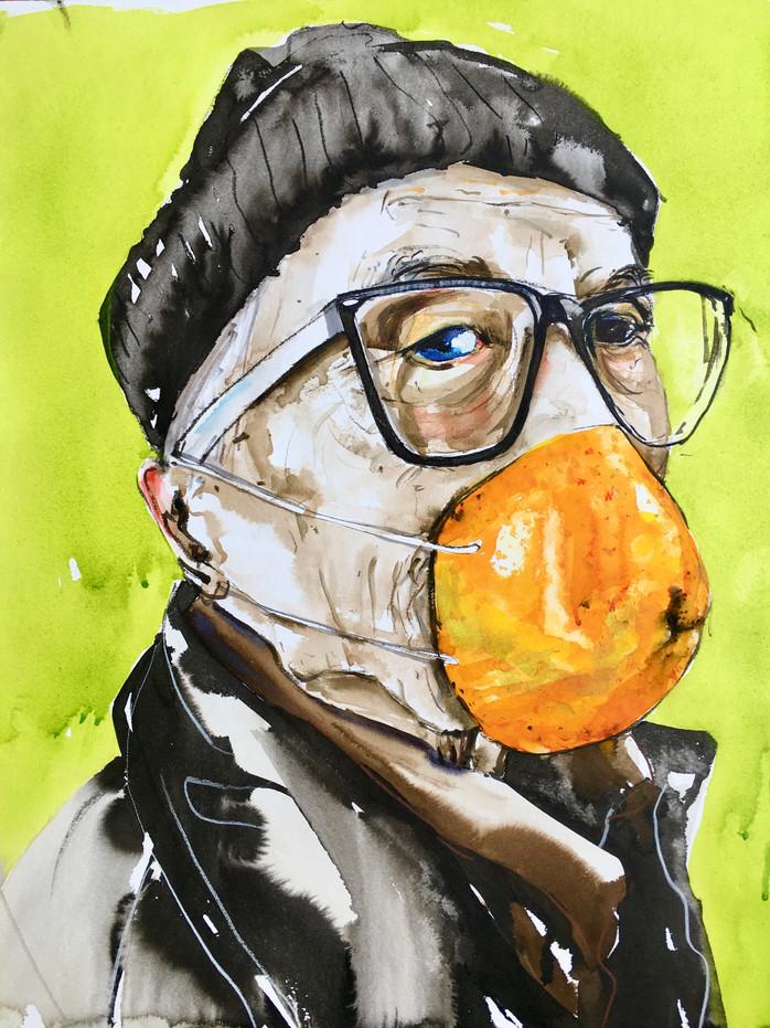 Orangenschnute