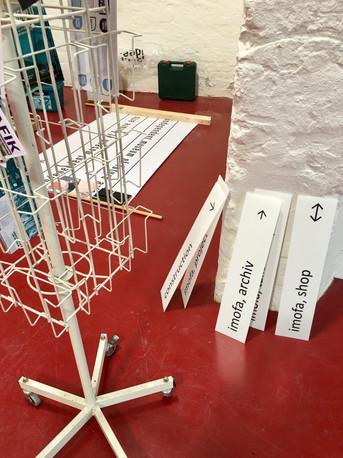 exhibition under construction