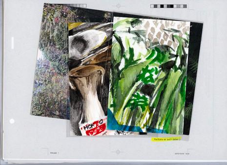 """zwei original Aquarelle der Arbeit """"Nur von Luft und Liebe leben"""" / two original watercolours of the work """"Only live on air and love"""