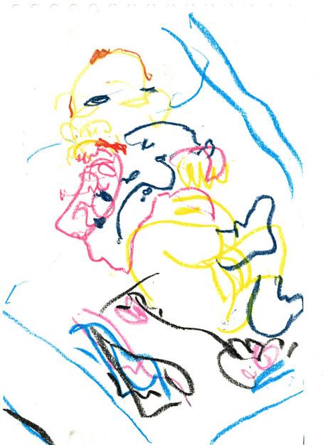 Ölkreide auf Papier, 30 x 20 cm // oil chalk on paper