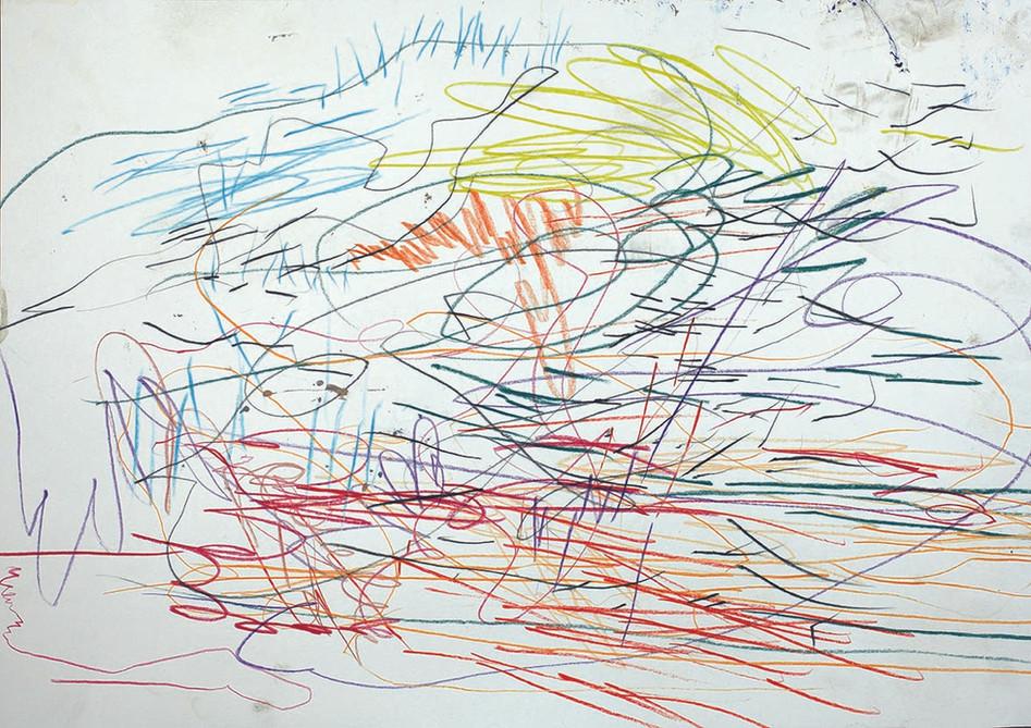 Buntstift auf Papier /  30 x 40 cm // in Besitz einer privaten Sammlerin crayon on paper / 12 x 16 inch // owned by a private collector