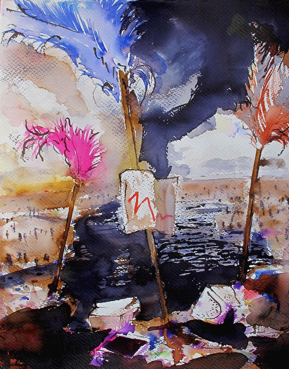 Tusche auf Papier / ink on paper / 78 x 56 cm