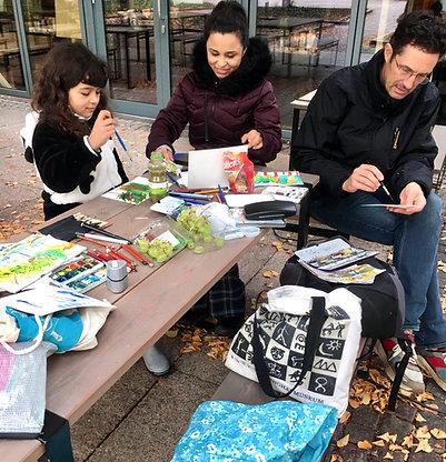 GUTSCHEIN - Urban Sketching Zeichenkurs