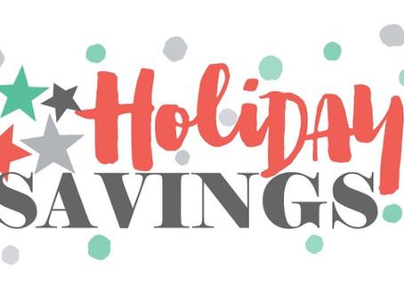 4 Holiday savings tips!