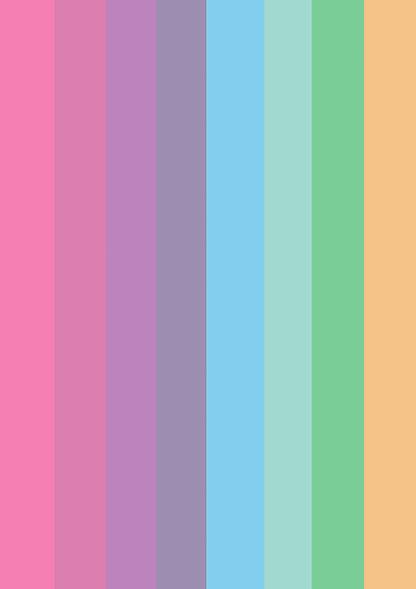Begin Image Eight-colour rainbow. End Image