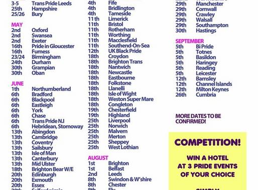 UK Pride Dates 2020!