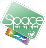 Begin image. Beaminster Group logo: similar to the SYP logo, but with a plain mid-green background, and the tag is rainbow gradient. End image.