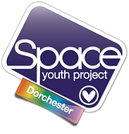 Begin image. The Dorchester Group logo: similar to the SYP logo, but with a plain indigo background and rainbow gradient tag. End image.