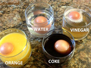Dissolving, Expanding, Bouncing Egg Science Experiment