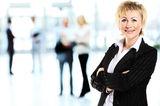 Sourire d'affaires moderne Femme