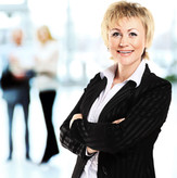 Sorridente moderno Business Woman