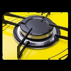Cooktop Colors Amarelo Safanelli 5 queimadores