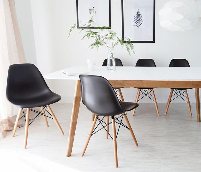 Cozinha elegante e moderna com móveis e eletrodomésticos pretos!