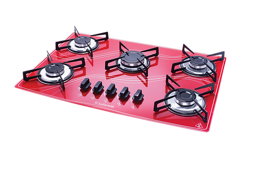 Cooktop Colors Vermelho Safanelli 5 queimadores