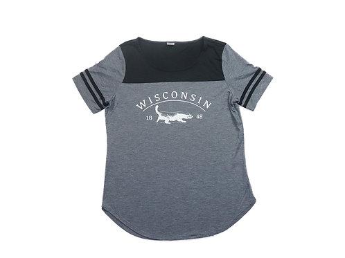 Wisconsin Women's Fan Tee