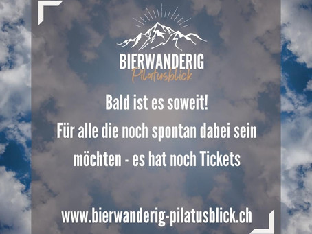 Bier Wanderig Pilatusblick