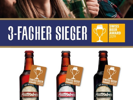 """3-facher Sieger am """"Swiss Beer Award""""!"""