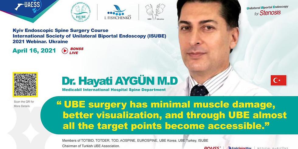 Kyiv Endoscopic Spine Surgery Course, International Society of Unilateral Biportal Endoscopy (ISUBE), 2021, UKRAINE