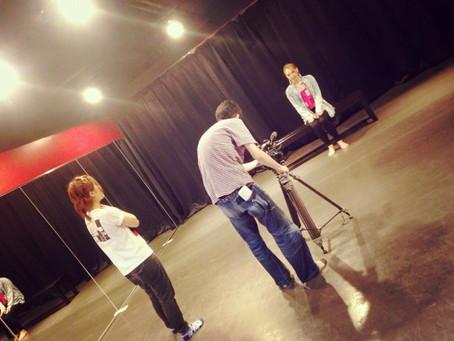 スタジオにて番組VTRの撮影を行いました