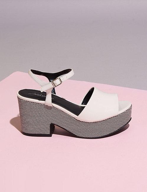 Sandália Plataforma Branca