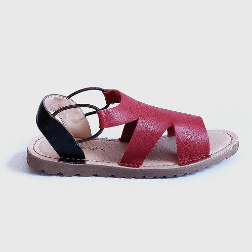 Sandália Comfy Minimalista Vermelha