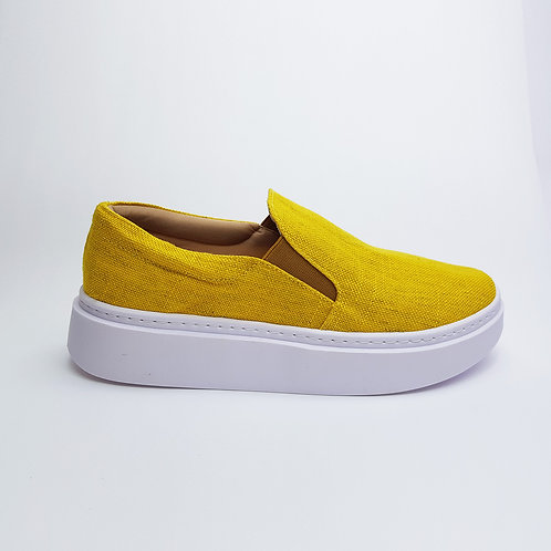 Tênis Slip On Flatform Amarelo