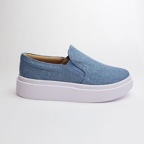 Tênis Slip On Flatform Azul