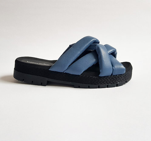 Mule Puffy Azul