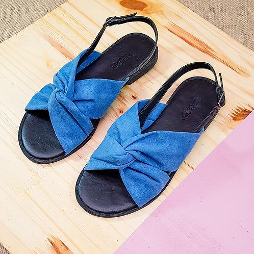 Sandália  Rasteira Color Suede Azul