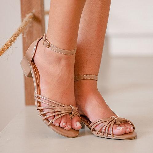 Sandália Tiras Salto Baixo